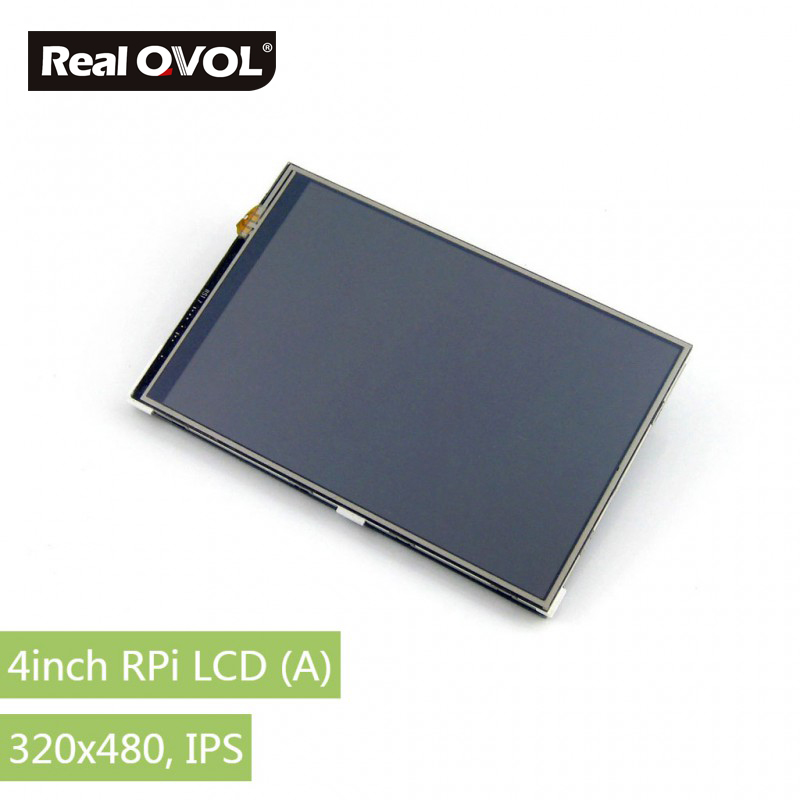 RealQvol 4inch RPi LCD (A) Touch Screen TFT LCD Supports any revision of Raspberry Pi 320x480 resolution 3 5 inch touch screen tft lcd 320 480 designed for raspberry pi rpi 2