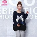 Maternity fashion high-grade women size cartoon a Pullover Jacket on winter an autumn coat