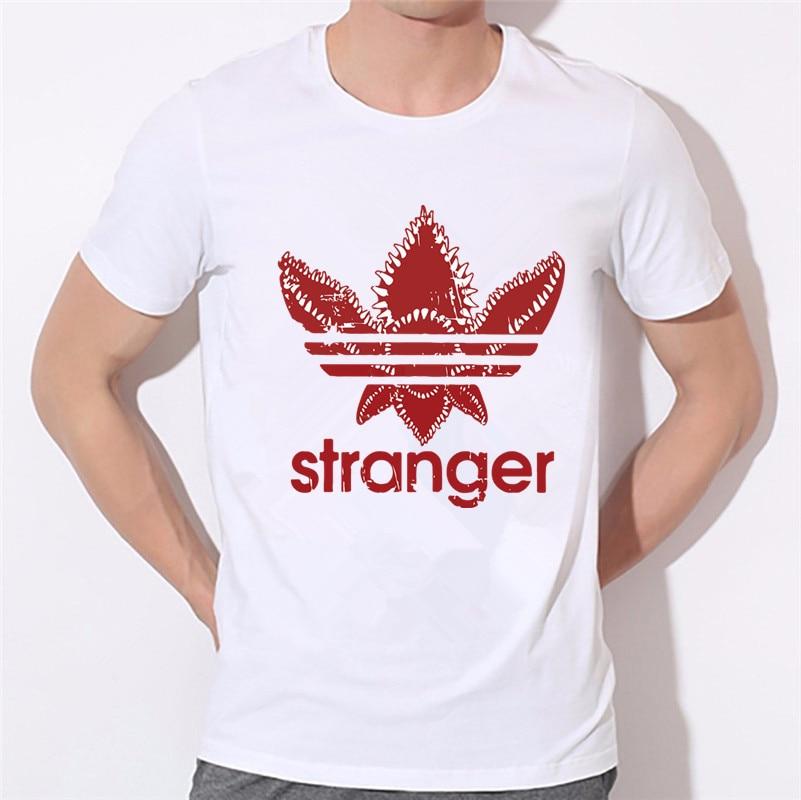 Mens Stranger Things Logo Design Mens T-shirts Summer Tops T shirt Homme Design Short Sleeve Tops,HCP6008