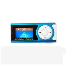 2017 Portable mini mp3 player USB Clip  mini Player with LCD screen support 16GB Micro SD card with Small flashlight