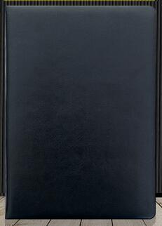 Кожаная обложка бизнес тетрадь для студентов дневник тетрадь A5/A6/B5 сшитая Мягкая обложка - Цвет: Black
