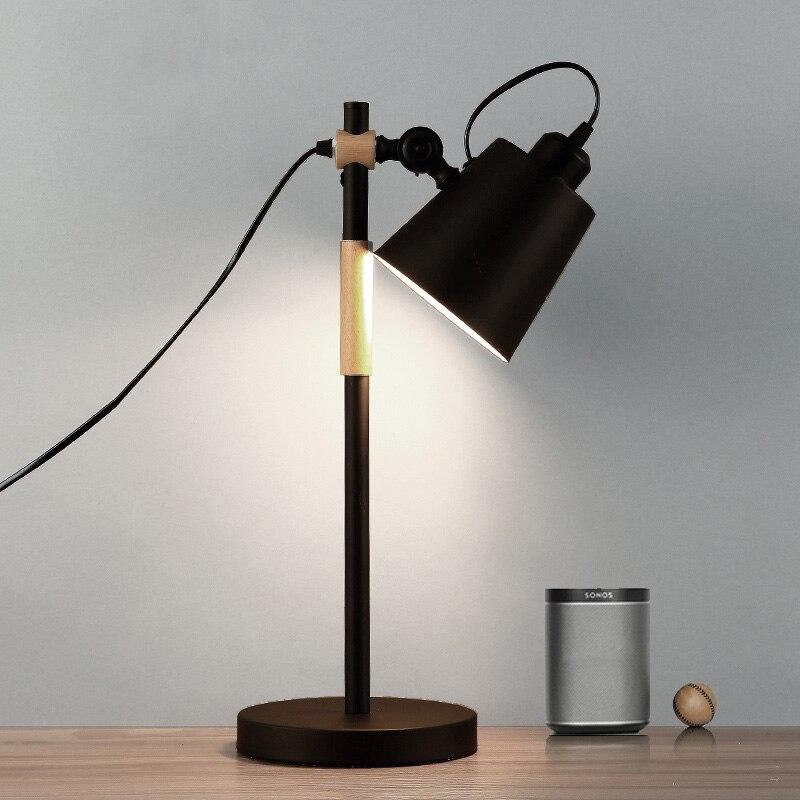 Amercian retro loft desk lamp vintage bedroom living room office study lamp adjustable lighting fixtures E27 eidson table light|LED Table Lamps| |  - title=
