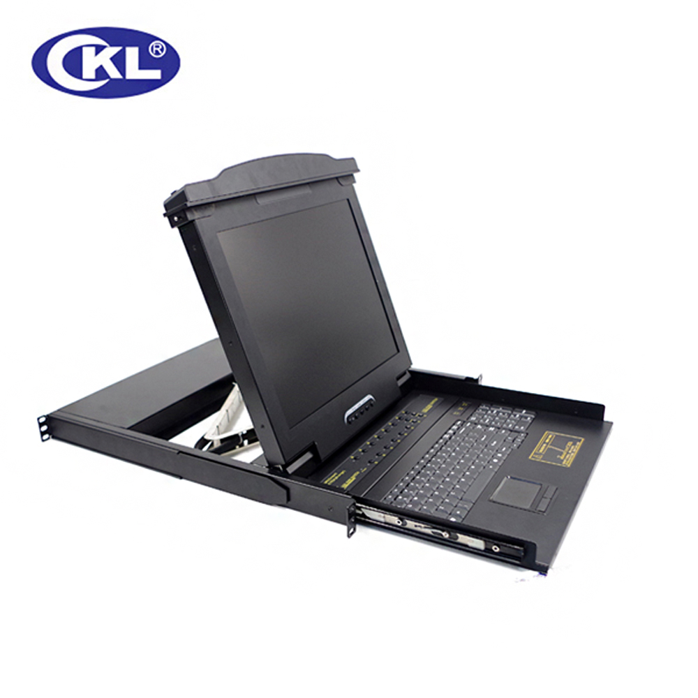 где купить CKL-1716VUP USB PS/2 Combo 16 Port LCD KVM Switch with  OSD VGA Auto KVM Switcher Rack for Keyboard Mouse Monitor дешево