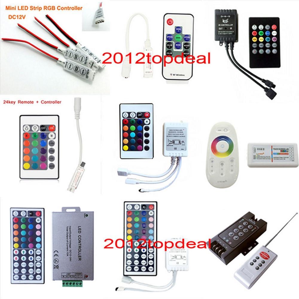 For 3528 5050 RGB LED Strip Light Mini 3//24//44 Key IR Remote Wireless Controller