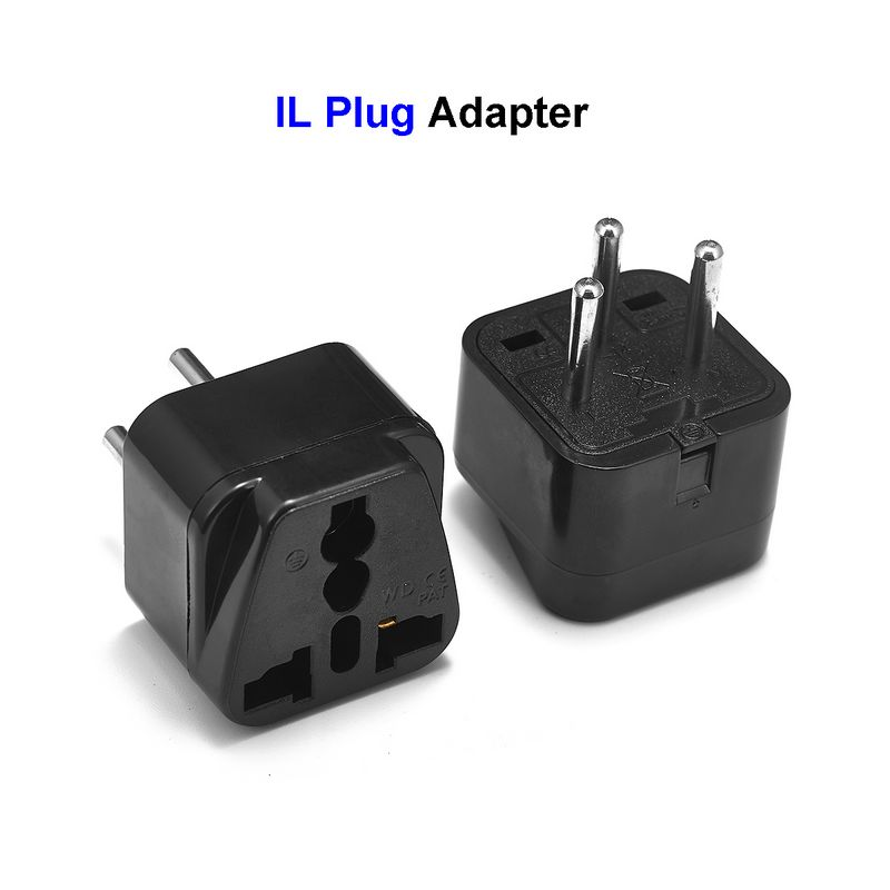 Universal Israel IL Plug Adapter EU European US UK To IL Israel Egypt Travel Adapter Electric Plug Power Charger Socket Outlet