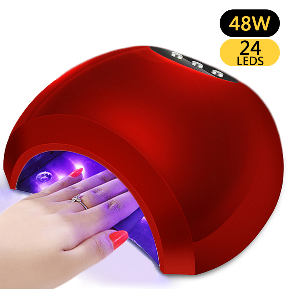 ROHWXY 48W UV Lamp Gel LED Nail Lamp High Power For Nails All Gel ...