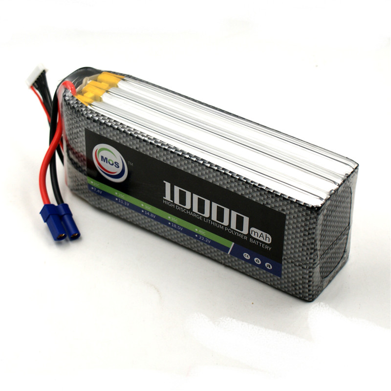 MOS RC Lipo Battery 22.2v 6S 25C 10000mAh For RC Aircraft Drones Car Boat Helicopter Quadcopter Airplane Li-ion Battery 6S AKKU 1s 2s 3s 4s 5s 6s 7s 8s lipo battery balance connector for rc model battery esc