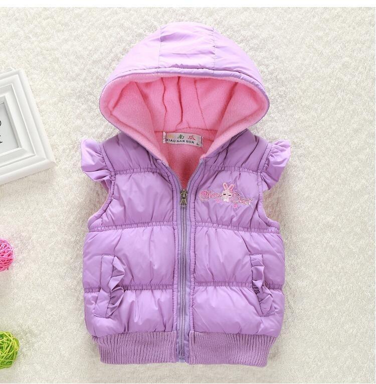 Girls Vest Fashion Kids Cartoon Rabbits Rudens ziemas silts vestes - Bērnu apģērbi