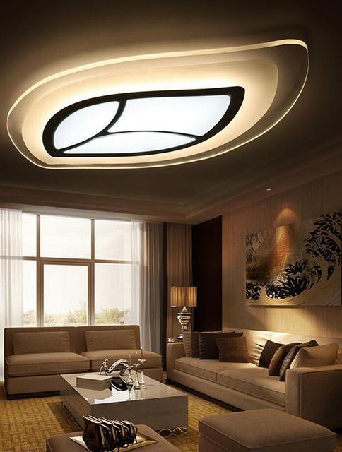 Design Acrylic LED Ceiling Fixture Lighting Living Room Lights Pendant Lamp Creative Warm Minimalist Oval Tree