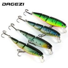 DAGEZI 3 Sections 3D Eyes Fishing Lures 10.5cm/15g fishing tackle 4 color Minnow fishing hard bait 4pcs/lot 6# Hook