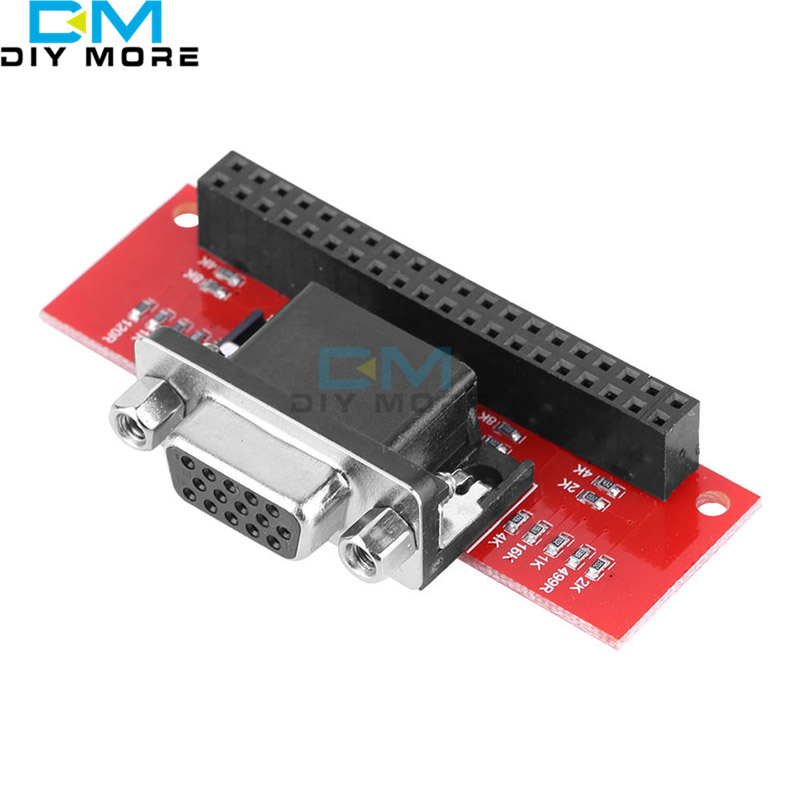 EP-0073 VGA666 Gert-VGA Adapter Board Module GPIO To VGA for Raspberry Pi 3B / 2B / B+ ...