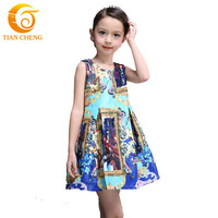 New Arrived Milan Creations Baby Girl Dress Sleeveless Kids Dresses For Girls Princess Dress Vestidos De