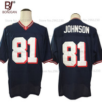 2017 New Cheap Calvin Johnson 81 Sandy Creek High School Dark Blue American Football Jersey Throwback Embroidered Mens Shorts