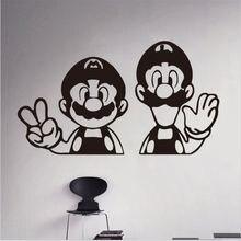CHM- engomada  para videojuegos de Super Mario, pegatina sala juegos, carteles juegos dhesivos pared vinilo