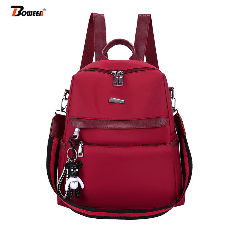 Oxford Backpack Women Bag Black Solid Back Bag For Teenager Youth Preppy Style Bag Pack Casual Ladies Back Pack 2019 New