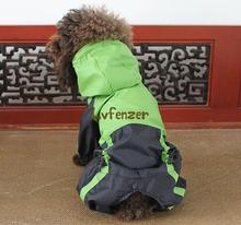 Pet Products Dog Supplies red green Waterproof nylon Small dog puppy Jumpsuit Rain Raincoat Poncho Clothes