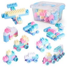 Children Baby Early Educational Toys Building Blocks DIY Plastic Building Blocks Toy 100 Pieces Kids Toys Baby Boys Girls Gift(China)