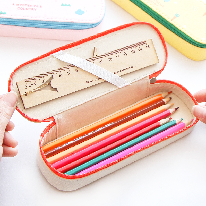 Cute pencil bag for girls simple school tools stationery pen box pouch student pencilcase big capacity canvas pencil case kawaii стоимость