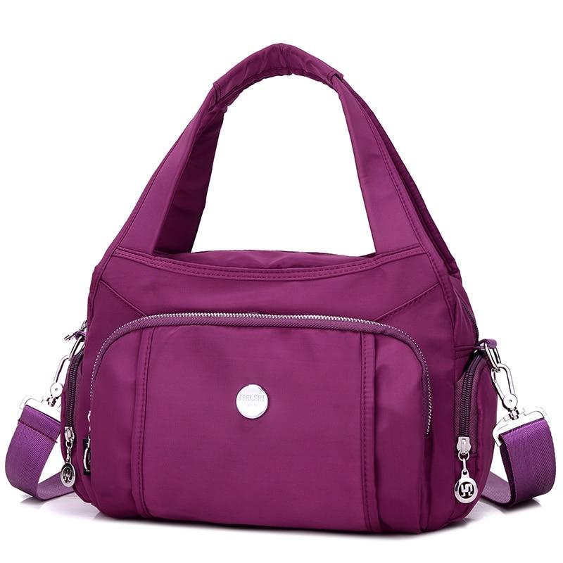 100% Wahr Oxford Schulter Tasche Solide Wasserdicht Nylon Umhängetasche Hohe Qualität Leichte Freizeit Oder Reisetasche Ländlichen Stil Hobos Frauen