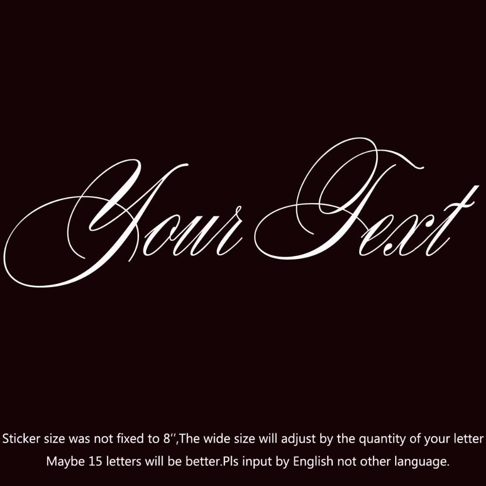 Your text vinyl decal sticker car window bumper custom 7 personalized lettering splendid es