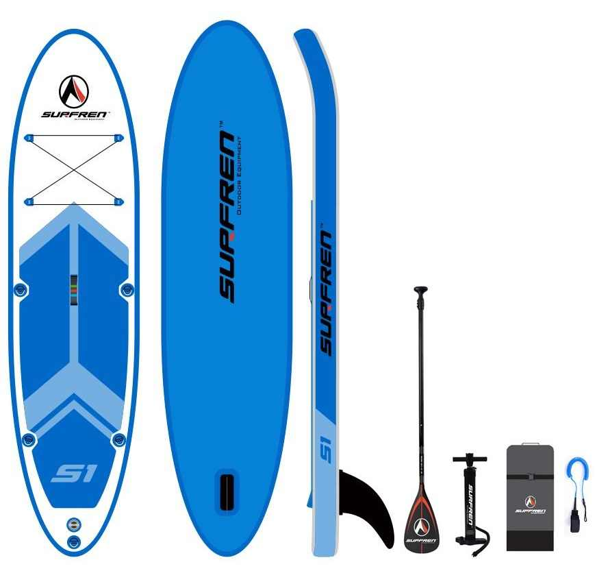 Surf gonflable debout Sup paddle board iSUP SurfingPaddleboard SURFREN allround wakeboard bodyboard kayakboat taille 300*76 ** 13cm