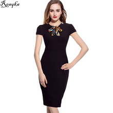 Brand 2016 New Arrivals Fashion Style Sexy Formal Bodycon Elasticity Dress Elegant Bow Pencil Dresses Office Women Work Clothes
