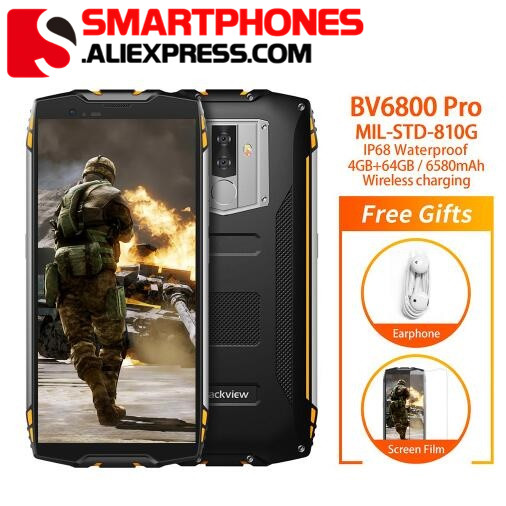 Blackview BV6800 Pro Android 8 0 Mobile Phone 5 7 MT6750T Octa Core 4GB 64GB 6580mAh