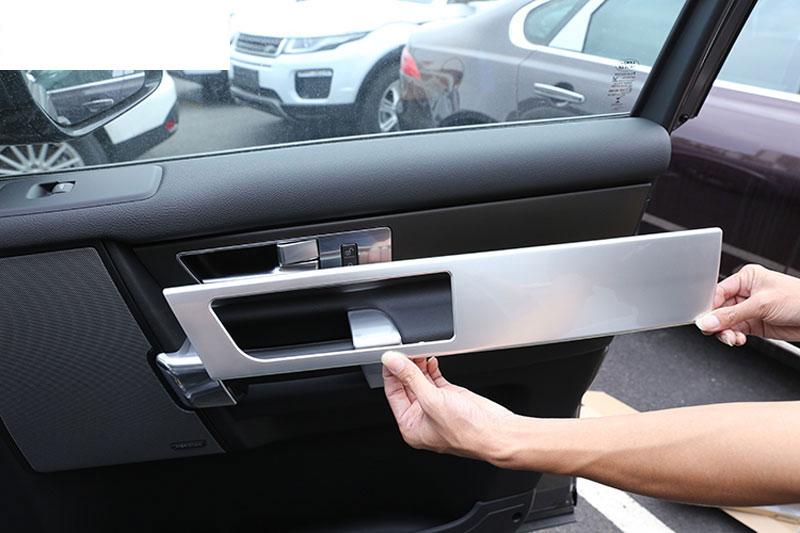 For Land Rover Discovery 4 LR4 Interior Door Handle Panel Trim ABS Chrome Sticker 2010-2016 Car Accessories New Arrivals 4pcs 4pcs abs interior door cover trim for land rover range rover evoque 2011 2016