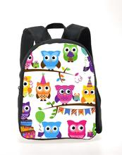 Cute 12inch 3d animal children school bag small girls owl schoolbag baby kindergarten bag kids bookbag mochila infantil