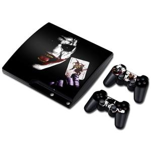 Image 3 - ג וקר ויניל עור עבור PS3 Slim קונסולת מדבקת כיסוי עבור PS3 Slim בקרי Gamepad Controle Mando מדבקות