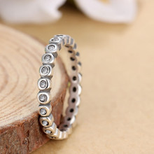 HOMOD 2019 Fashion Silver-plated Alluring Brilliant Stackable Brand Finger Ring with Clear CZ Original Fashion Jewelry(China)