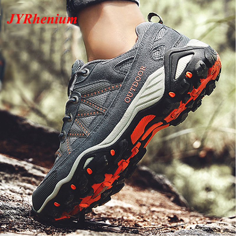 New High Quality Men Women Hiking Shoes Genuine Leather Durable Anti-Slip Breathable Outdoor Mountain Climbing Trekking Shoes