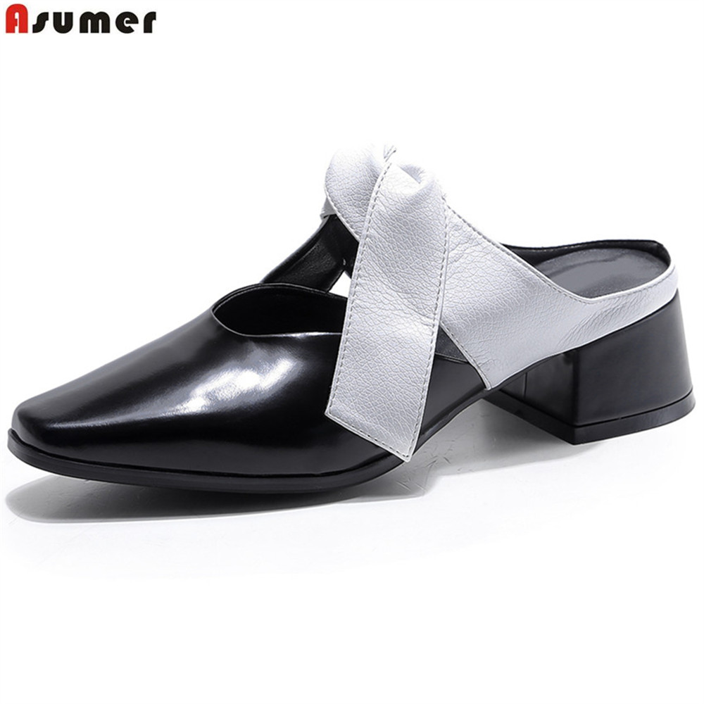 mary jane shoes casual shoes solid square spring autumn buckle shallow flats women shoes ladies leather med heels brown shoes Asumer fashion square toe shallow casual comfortable lady shoes square heel spring autumn women genuine leather med heels shoes