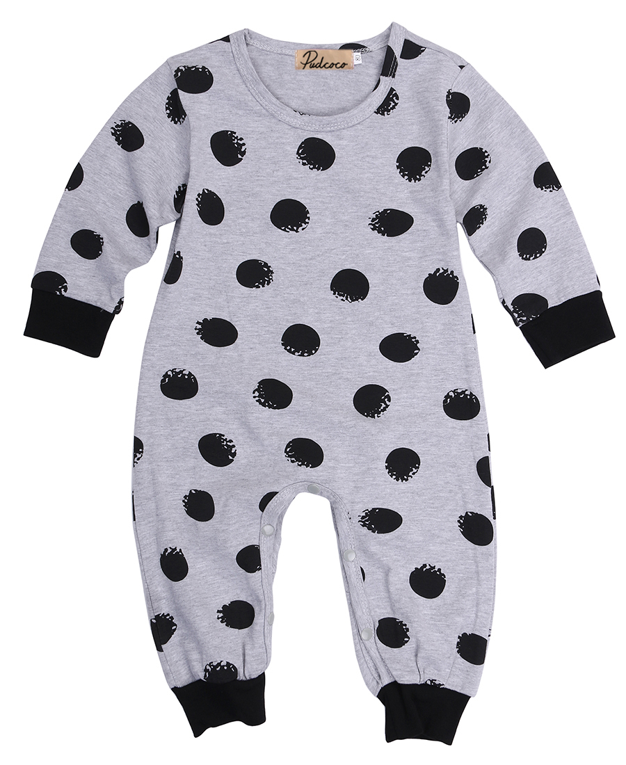 baby boy girl long sleeve romper organic polka dot back printed me letter rompers cotton romper for 0-24M baby