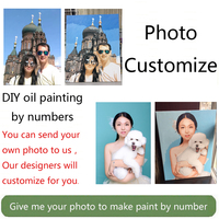 Wow! Painting by Numbers for portrait wedding family Pet photos custom digital painting coloring numbers on canvas paints