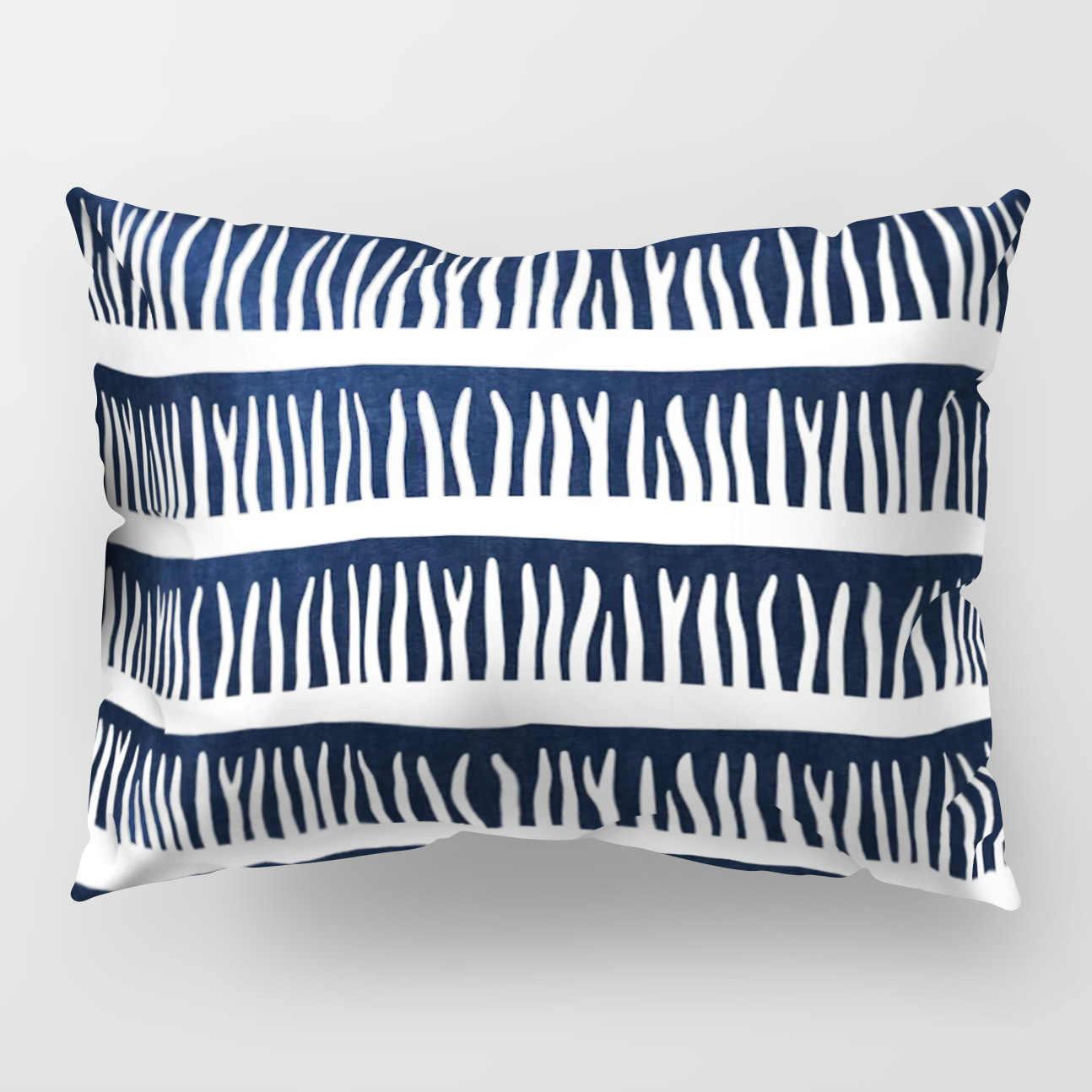 ลาย Geometric Designer สีเทา Cushion COVER สีขาวและสีดำแฟชั่นตกแต่งบ้านโซฟาเก้าอี้โซฟารถโยนหมอนกรณี