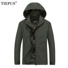 TIEPUS Для Мужчин's куртки ветровки Демисезонный тонкий пальто с капюшоном мужской верхней одежды брендовая одежда плюс Размеры M ~ 5XL 6XL