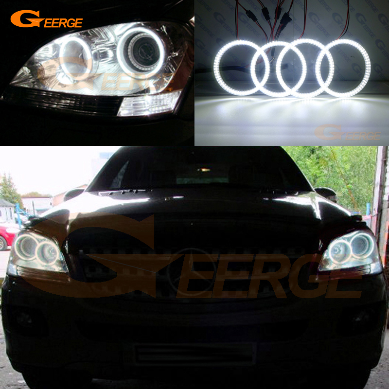 For Mercedes Benz M Class W164 ML320 ML350 ML500 ML63 AMG 2006 2007 Excellent Ultra bright smd led Angel Eyes kit DRL коврики в салон mercedes benz m class w164 2006