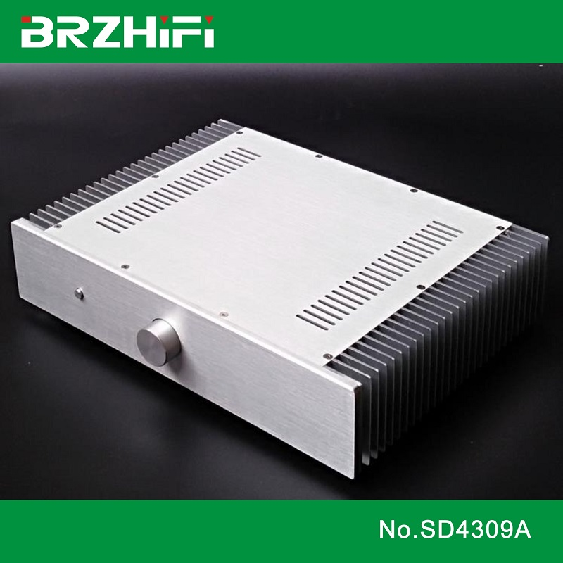 BRZHIFI SD4309A Double Radiator Aluminum Case For Power Amplifier