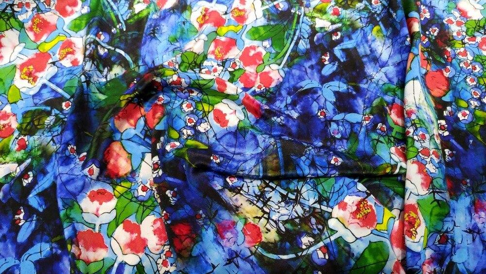 Tissu coton crêpe 16 moomin soie tissu fleurs stoffen jersey tissus robe floral stoffa cotone tkanina na matériel de métrie
