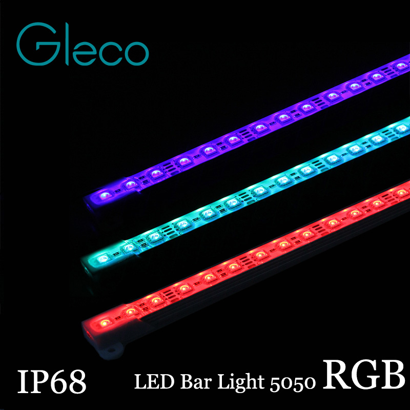 2pcs 5050 Rgb Led Bar Light Dc12v 36led 50cm Ip68 Waterproof Aquarium Lighting Led Hard Strip Bar Light