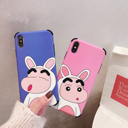 Luxury Brand Case for iPhone X Case iPhone XR XS MAX 6 S 7 8 Plus Cartoon Crayon Shin Chan Japan Soft Silicon Cover Phone Coque 2