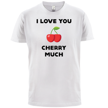 I Love You Cherry Much - Mens T-Shirt - Cute / Spoof / Meme Print T Shirt Mens Short Sleeve Hot Tops Tshirt Homme t shirt chicco size 086 flower i love you pink