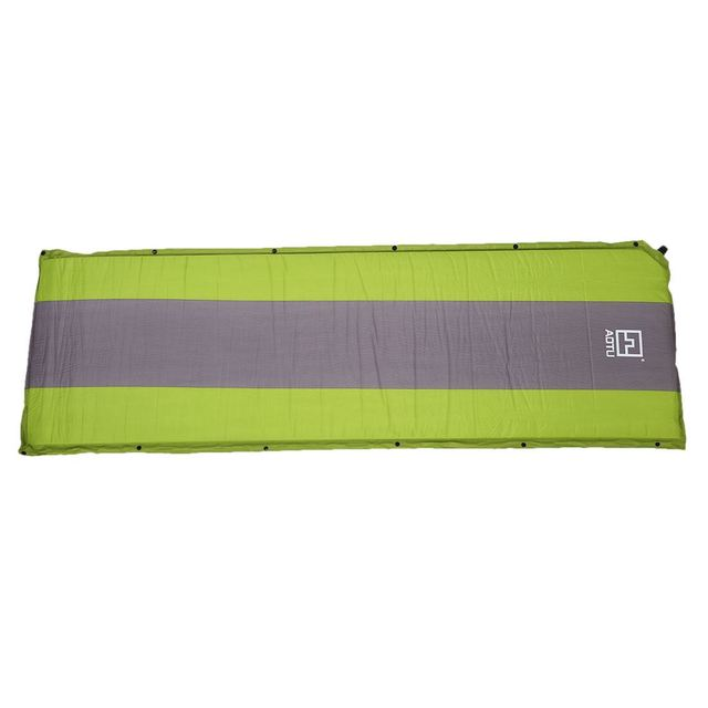 Aotu Self Inflating Sponge Sleeping Mat Camping Mattress Air Bed Single Roll Up Green