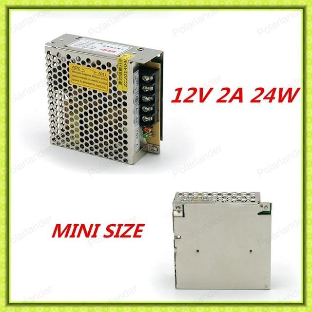 Mejor calidad ultra delgado 12 V 2A unidad de Potencia Del Controlador para la Tira del LED AC110V/220 V de Entrada a DC envío libre
