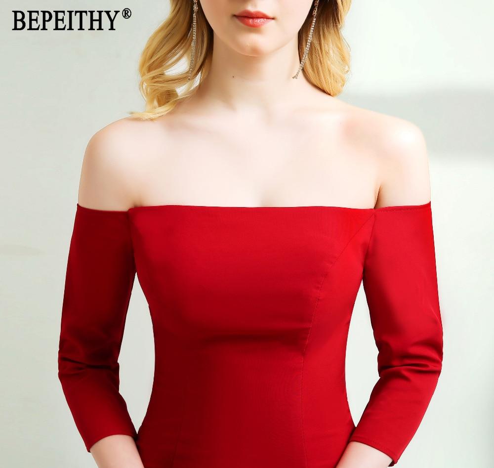 BEPEITHY Nieuwe collectie Elegant Vestido De Festa Longo Halflange - Bruiloft feestjurken - Foto 5