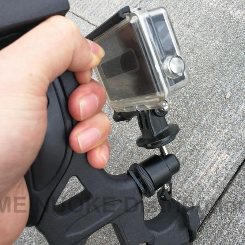 Gopro를위한 카메라 보우 마운트 Xiao Yi Mi SJCAM 액션 카메라 및 스마트 폰