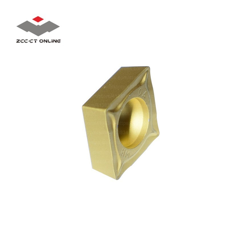 10pcs ZCC turning insert CCMT09T304 HM YBC251 CCMT32 51 for semi finishing of steel alloy CCMT09 lathe cutter in Turning Tool from Tools