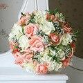 Невеста, холдинг цветы, Свадебный Букет Ручной Работы Искусственный Цветок Розы Свадебный Букет для свадьбы свадебные Украшения цветы брод