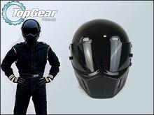 High Quality ( Bluetooth ) First Generation TopGear Stig 1 Helmet Black Colour With Black Visor Top Gear Car / Motorcycle Helmet